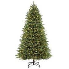 Puleo International 7.5 ft Pre-Lit Elegant Series Franklin Fir Artificial Christmas Tree with 600 UL-Listed Clear Lights