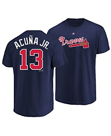 Majestic Men's Ronald Acuna Atlanta Braves Official Player 3XL-4XL T-Shirt