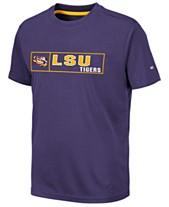 e396c879dcc Colosseum Big Boys LSU Tigers Boxed Logo Polyester T-Shirt