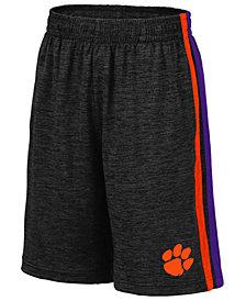 Colosseum Big Boys Clemson Tigers Team Stripe Shorts
