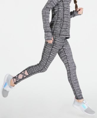 Big Girls Static-Print Caged Leggings, Created for Macy's