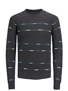 Jack & Jones Men's Dotted-Striped Sweater