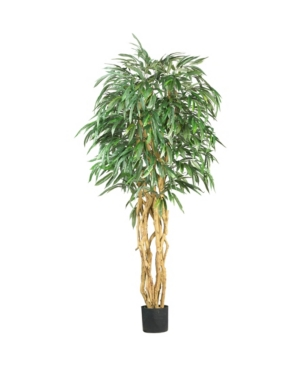Nearly Natural 6' Weeping Ficus Faux Silk Tree