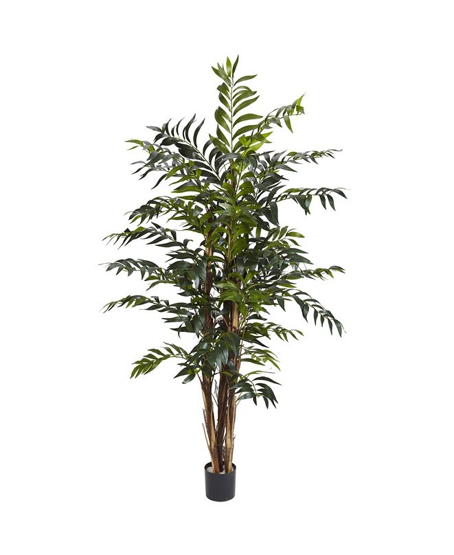 Nearly Natural 5' Bamboo Palm Faux Silk Tree