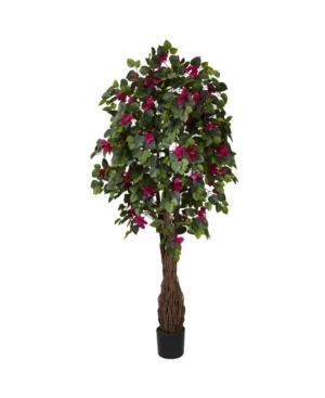 Nearly Natural 6' Multi Vine Bougainvillea Faux Silk Tree