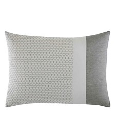 Vera Wang Tuille Floral Grey Throw Pillow