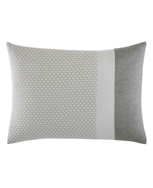 Vera Wang Tuille Floral Grey Throw Pillow