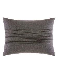 Vera Wang Burnished Quartz Charcoal Thick Thread Stitch Breakfast Pillow