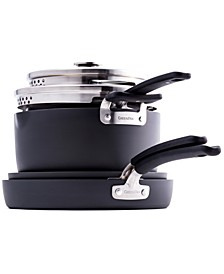 Levels 6-Pc. Stackable Ceramic Nonstick Cookware Set