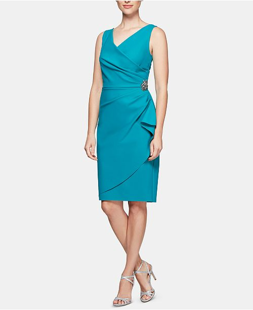 5784960dab4 Alex Evenings Compression Embellished Ruched Sheath Dress   Reviews ...