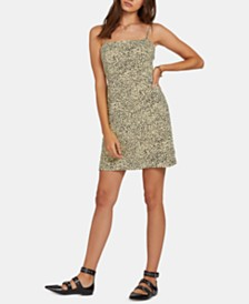 Volcom Juniors' Animal-Print Tank Dress