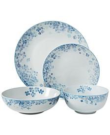 Hydrangea Blue 16-Pc. Dinnerware Set, Service for 4