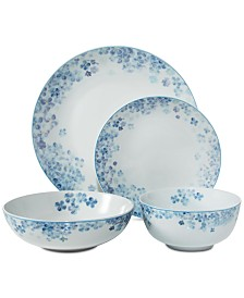 Darbie Angell Hydrangea Blue 16-Pc. Dinnerware Set, Service for 4