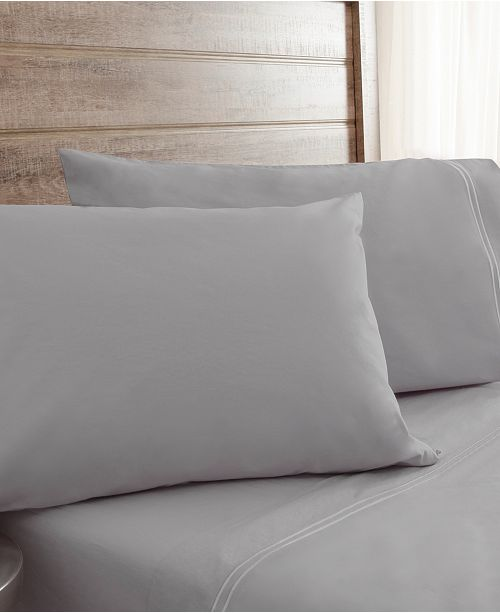Elite Home King Soft Washed Percale Sheet Sets