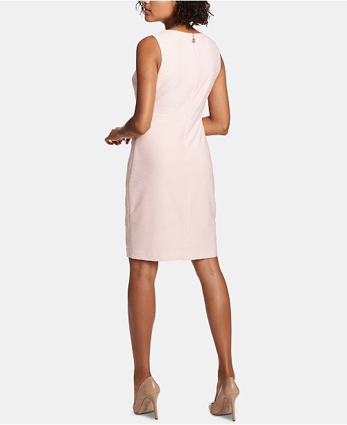 d4e66a72 ... Tommy Hilfiger Petite Crisscross-Knit Sleeveless Sheath Dress ...