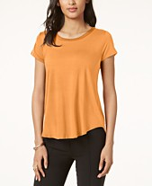 0d9f7457 Alfani Satin-Trim High-Low T-Shirt, Created for Macy's