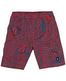Volcom Big Boys Logo Shifter Volley Printed Swim Trunks