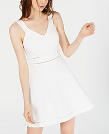 Crochet-Trim Fit & Flare Dress, Created for Macy's