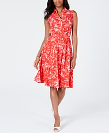 Charter Club Printed A-Line Dress, Created for Macy's