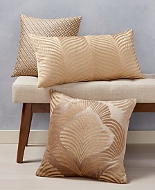 Home Design Gold Decorative Pillow Collection, Created for Macy's
