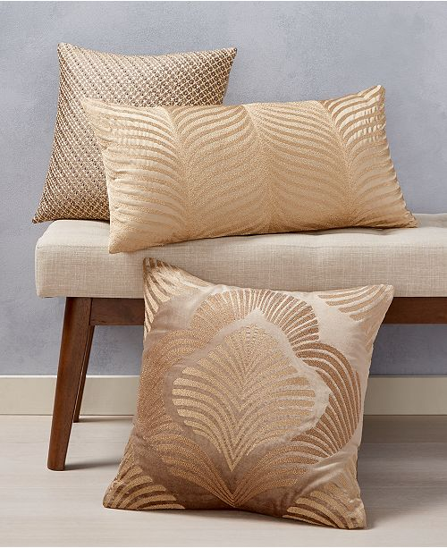 Home Design Studio Gold Decorative Pillow Collection, Created for Macy's
