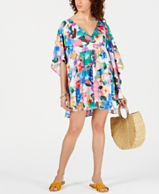 Nanette Lepore Printed Caftan Cover-Up, Created for Macy's