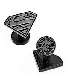 Satin Superman Shield Cufflinks