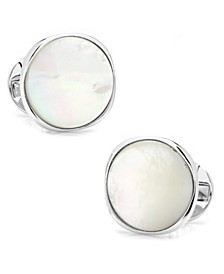 Sterling Classic Formal Mother of Pearl Cufflinks