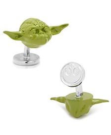 3D Yoda Head Cufflinks