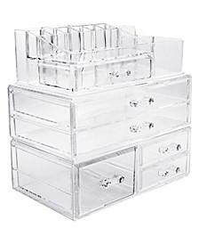 Cosmetics Makeup and Jewelry Storage Case Large Display Sets - Style 1