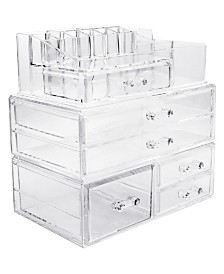 Sorbus Cosmetics Makeup and Jewelry Storage Case Large Display Sets - Style 1