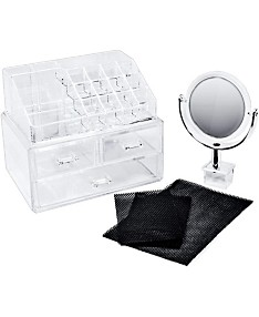 Sorbus Cosmetic Makeup and Jewelry Storage Case Display With Mirror