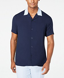 INC Men's Regular-Fit Camp Shirt, Created for Macy's