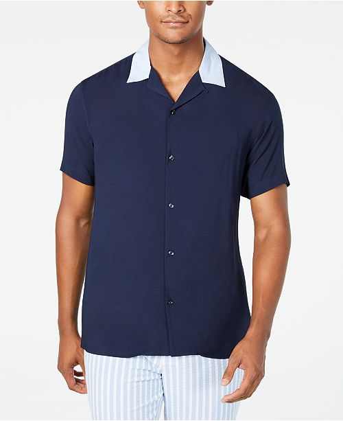 INC International Concepts I.N.C. Men's Regular-Fit Camp Shirt, Created for Macy's