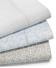Charter Club Sleep Luxe Cotton 800-Thread Count 4-Pc. Printed Extra Deep Pocket Sheet Sets, Created for Macy's