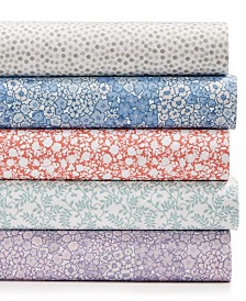 Martha Stewart Essentials Printed Microfiber 4-Pc. Sheet Sets, Created for Macy's