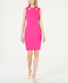 Calvin Klein Cutout-Collar Sheath Dress