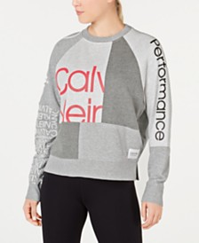 Calvin Klein Performance Colorblocked Logo Sweatshirt