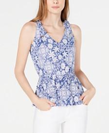 MICHAEL Michael Kors Tie-Shoulder Top, Regular & Petite, Created for Macy's