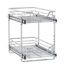 Household Essentials Glidez Dual Slide 2-Tier Sliding Cabinet Organizer