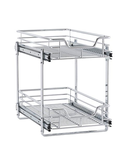 Household Essentials Glidez Dual Slide 2-Tier Sliding Cabinet Organizer