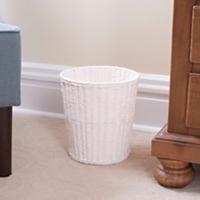 Household Essentials Paper Rope Wicker Waste Bin