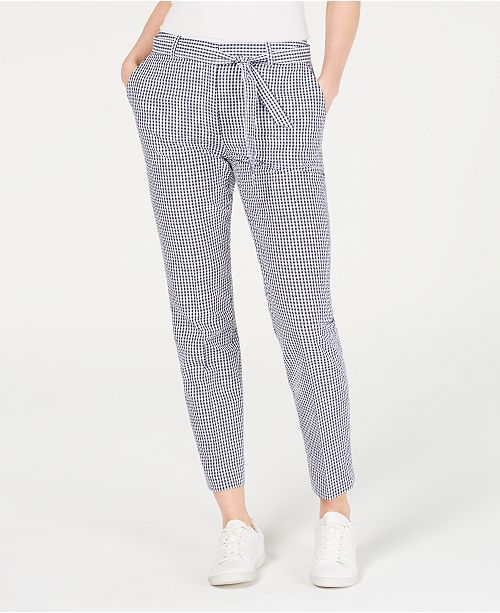 Nine West Checkered Belted Pants