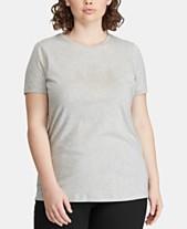 ff094eafc3876 Lauren Ralph Lauren Plus Size Logo Graphic T-Shirt