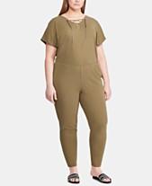 cce5786dad6c Lauren Ralph Lauren Plus Size Lace-Up Jumpsuit