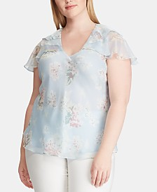 Lauren Ralph Lauren Plus Size Floral-Print Top