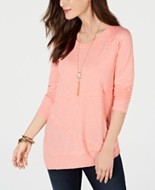 Style & Co Seam T-Shirt, Created for Macy's