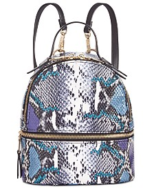 Steve Madden Karter Mini Python-Print Backpack