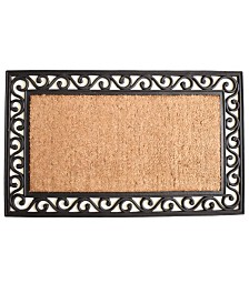 """Versailles 18"""" x 30"""" Coir/Rubber Doormat"""
