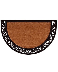 Ornate Scroll Coir/Rubber Doormat